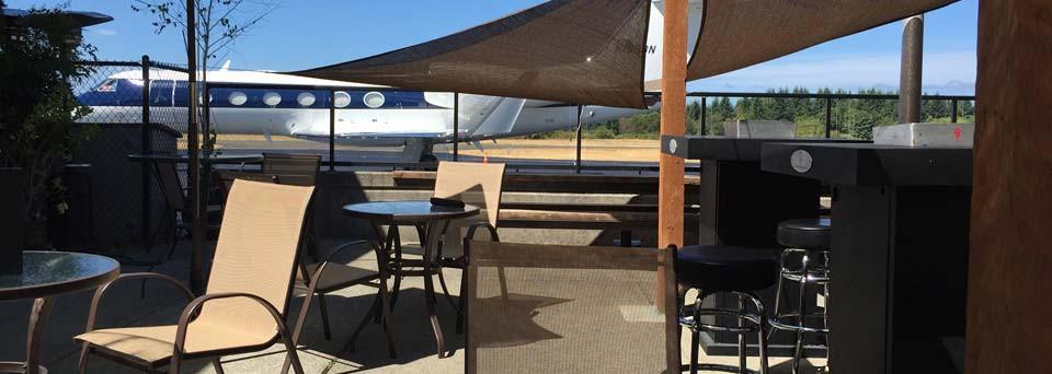 The flight deck at The Hub at Gig Harbor
