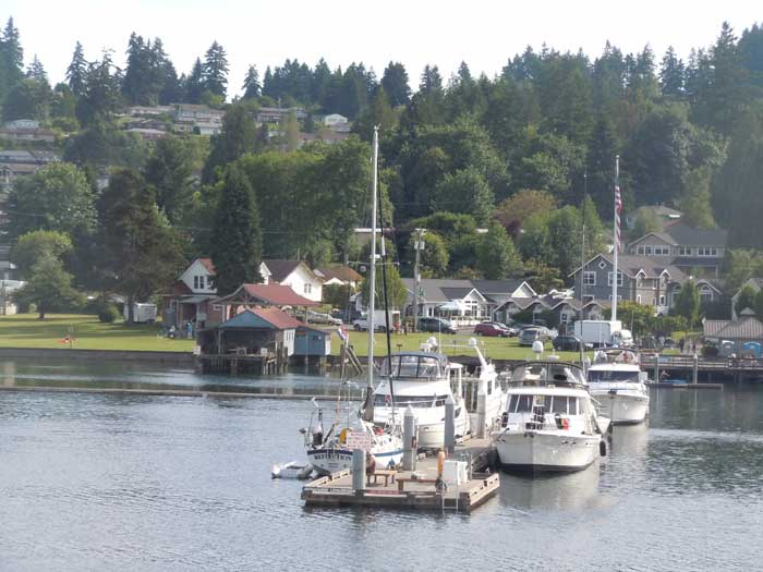 Gig Harbor, Washington State, docked boats