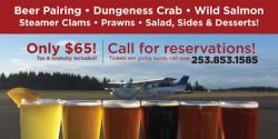 The Gig Harbor Hub Summer Seafood & Beer Fest, Party, Event in Gig Harbor, Narrows Airport, The Hub, Gig Harbor Event, Gig Harbor Venue, Gig Harbor, Rental, Seafood, Food, Beer, Party, Tarmac, Aug. 23rd, Luke Stanton, WSU Fundraisier, Dungeness Crab, Seafood, Harmon Beer, Fest, Summertime Event