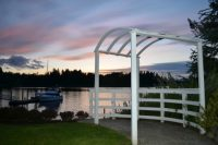 Chapel on Echo Bay. Venue, Fox Island, Waterfront, View, Weddings, Wedding, Party, Meeting, Rental, Kitchen, Meerings, Waterfront, beach, sanctuary, reception, sunsets, WEDDING ARCH