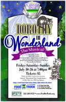 PenMet Parks, Dorothy in Wonderland, Musical, outdoor play, performance, outdoor, singing, Sehmel Homestead Park, Amphitheater, plays, live, food, rental, vnue, Gig Harbor, Shelter, Beaxhes, Pavilion, meadow, free parking