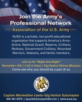 Army, Harbor History Museum, AUSA, Association of United States, Right Arm Night, presentation, United States Army, event, rental, party, meeting, rooms for rent, facility