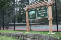 Rosedale Hall, Tennis, PenMet Parks, Venue, Rental, Weddings, Parties, Reunions, For Rent, Community Hall, Kitchen, music, sports, tennis, Basketball, Birthday, Sales, Dancing, Alcohol, Beer, wine, Room, Historic, Chair, Tables, Stage, Parking