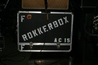Rokkerbox Band of Gig Harbor, amplifier with name, music, local entertainment in Gig Harbor