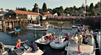 Summer Sounds in Gig Harbor, crowds, festival, music, boating, dancing, jazz, family, fun, happiness, net shed, Skansie Park, beach, waterfron, view, rafting, powerboats