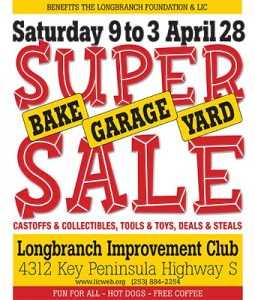 FREE -Peninsula's Largest indoor/outdoor Garage Sale! @ Longbranch Improvement Club | Longbranch | Washington | United States