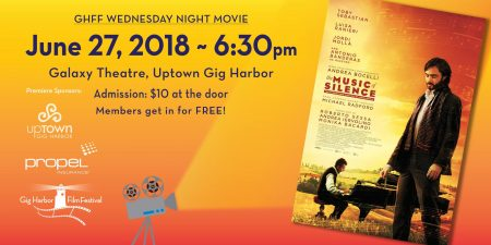 The Music of Silence - Gig Harbor Film Festival Movie Night @ Galaxy Theaters + IMAX Gig Harbor | Gig Harbor | Washington | United States