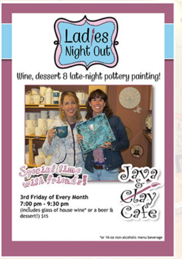 Ladies Night Out, Java & Clay, Gig Harbor Events