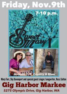 Sweet Mary Acoustic Folk, Country & Blues @ Markee   Gig Harbor   Washington   United States