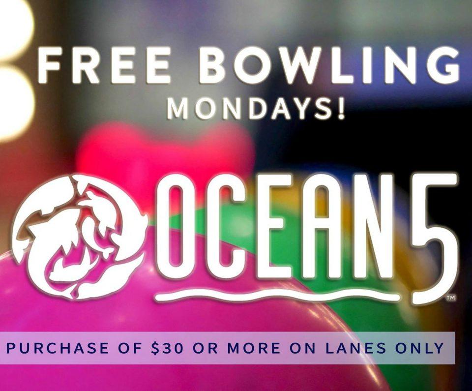 Ocean5, free bowling, Mondays, Gig Harbor