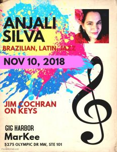 Brazilian Music with Anjali Silva at MarKee @ Markee | Gig Harbor | Washington | United States