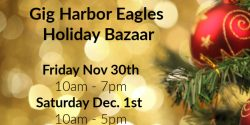 Eagles, Holiday Bazarr, Christmas, Shopping, Gig Harbor, food