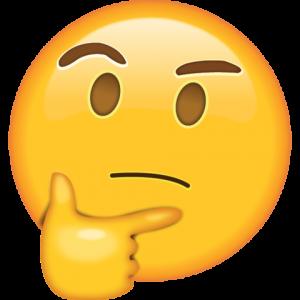 Thinking emoji, happy face