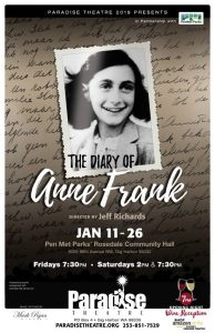 DIARY OF ANNE FRANK at Rosedale Hall @ Rosedale Hall | Gig Harbor | Washington | United States