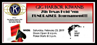 Texas hold 'em, poker, Kiwanis, Eagles Clubhouse, game, fundraiser, Gig Harbor,