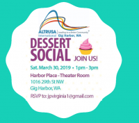 Gig Harbor, Altrusa, Dessert Social, Membership, Empty Bowls, Event, Information, Harbor Place, Join Us, Cakes, Pie, Free, Join, Invitation