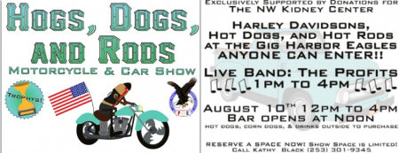 Hot Dogs & Rods at the Gig Harbor Eagles @ Eagles Club | Gig Harbor | Washington | United States