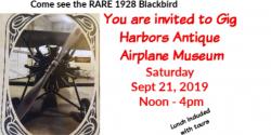 Gig Harbor Events, Antique Airplane Museum, Weddings, Venue, Antique, Event, Open House, rides, Blackbird, 1928, Tours