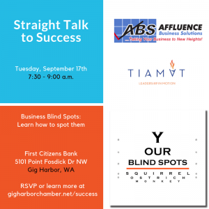 Straight Talk to Success - Discovering your business Blind Spots @ First Citizen's Bank | Gig Harbor | Washington | United States