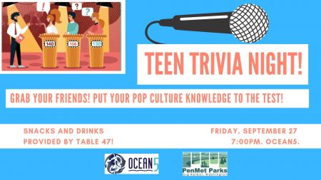 Teen Trivia Night @ Ocean 5 | Gig Harbor | Washington | United States