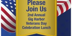 Gig Harbor Events, Harbor Veterans Day, Luncheon, celebration, veterans, fee, guests. honor, presentation, Gig Harbor Airplane Museum, Narrows Airport, 2nd Annual