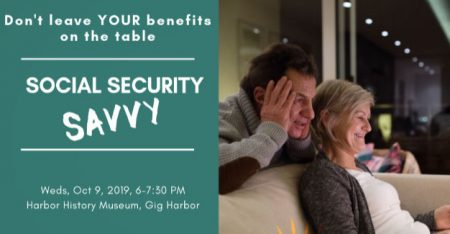 Social Security, Crystal McMahon, Harbor History Museum, Gig Harbor, Events, Workshop