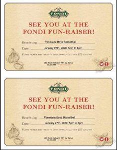 Peninsula High School, Fondi Pizza, Fundraiser, Gig Harbor
