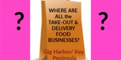 Gig Harbor Food Businesses, take-out, delivery, burgers, pizza, asian, american, Grab grub, no cooking, Key Peninsula, list, listing, restaurants