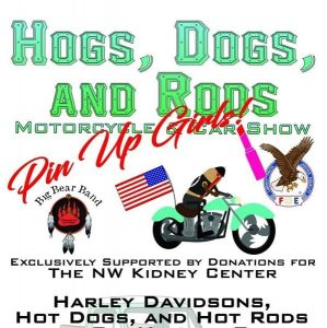 Gig Harbor, event, Hot Dogs, cars, motorcycles, bikes, Harley Davidson, Eagles Club, NW Kidney Center,
