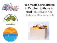 Gig Harbor, Key Peninsula, Free Meals, YMCA, Camp Seymour, Community Harvest, Greater Gig Harbor Foundation, Food, Donation, Needy, Help