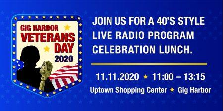 Gig Harbor, Event, Veteran's Day Ceremony, Car, Radio, Uptown Shopping, Outside, Kiwanis, Honor, service, Veteran, Holiday, Nov. 11