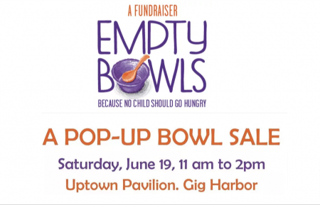 Gig Harbor, Events, Fundraiser, Altrusa, Bowls, Sales, Feed a child, Empty Bowls, hungry, Music, Two Macs, Sweet Mary, Live Music, Pop-Up, June 19, Pottery, Bowl Sale, Uptown Shopping Center