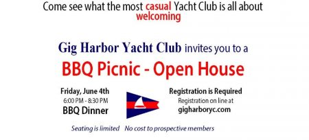 Gig Harbor, Events, Yacht Club, BBQ, Open House, Boating